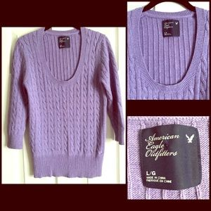 Purple American Eagle Outfitters fitted sweater